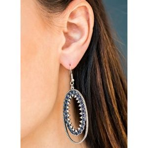 Paparazzi - Blue - Earrings - #200